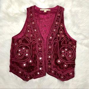 Chelsea & Violet Mirrored Velvet Vest